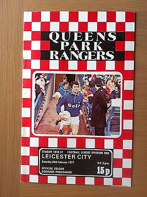 Queens Park Rangers V Leicester City 1976-77