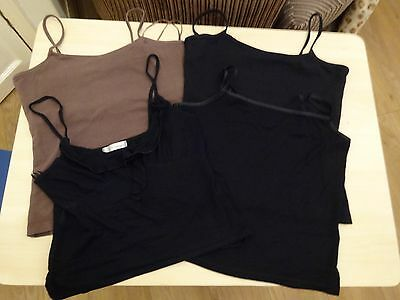 Job lot of ladies strappy summer tops 2 x size 10  2 x size 12 Next Matalan