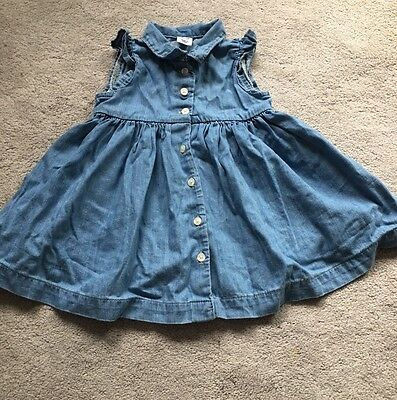Gap Baby Girl Toddler Girl Denim Dress 12-18M