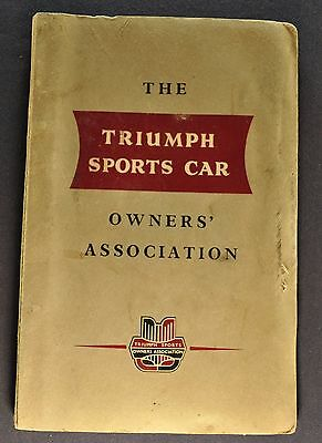 1955 1956 1957 Triumph TR2 TR3 Owner's Association Manual Excellent Original