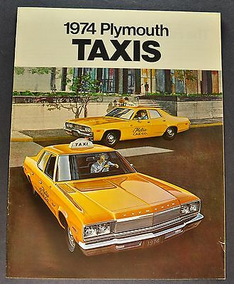 1974 Plymouth Taxi Catalog Sales Brochure Fury Satellite Nice Original 74