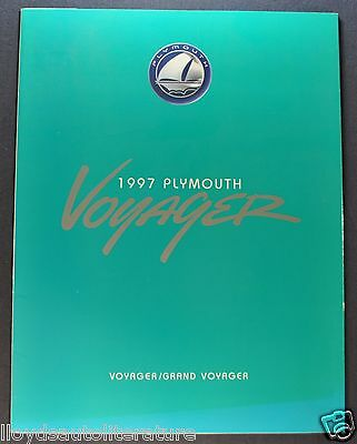 1997 Plymouth Voyager Mini Van Sales Brochure Folder Grand Excellent Original 97