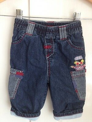 Baby Boy Next 3-6 Months Soft Lined Jeans Denim Trousers Pirates