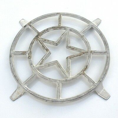 Vintage French Cast Aluminum Trivet, Star Design, Four Feet