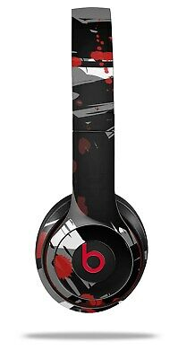 Skin Beats Solo 2 3 Abstract 02 Red Wireless Headphones NOT INCLUDED