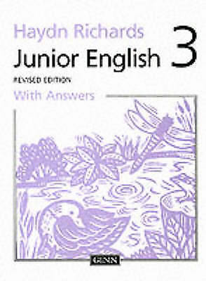 Junior English: Book 3 Pupil Book with Answers REVISED NEW BOOK Paperback