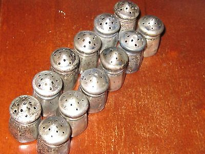 Vintage sterling silver tiny mini salt and peppers Lot of 6 pair