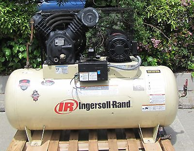 Ingersoll Rand 10HP Electric Air Compressor with a 120 Gallon Horizontal Tank