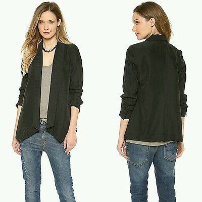 $268 HATCH Collection Maternity The Blazer Black P XS