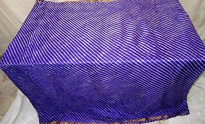 Blue Pure Silk 4 yard Vintage Sari Saree Traditional spring engagement UK #ECHC5