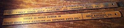 (2) Vintage GULF REFINING CO Advertising Rulers-Pittsburgh, PA