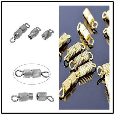 50pc Silver Gold Screw Clasp Connector for Bracelet Necklace Jewelry Finding DIY