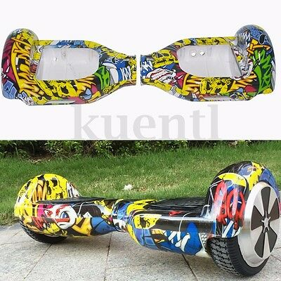 Graffiti Plastic Shell Cover Case For 6.5'' 2 Wheel Smart Self Balancing Scooter