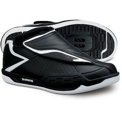 Shimano SH-AM45 SPD MTB Shoes Black/White Size 6.7 US - New - RRP $129.00