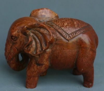Chinese Exquisite Hand-carved Elephant carving Shoushan Stone statue