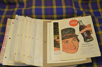 12 Vintage 1940-60s National Geographic COCA COLA Advertising Ads-Backcovers