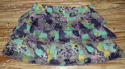 NEW Arizona Girls Size 2T Purple Floral Skort Skirt Ruffled Retail $10