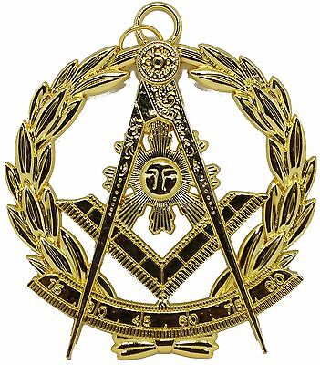 Masonic Collar Grand Past Master Jewel Gold Freemason Mason