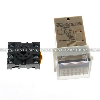 Digital DH48S-S AC 220V Precision Programmable Time Delay Relay With Socket Base