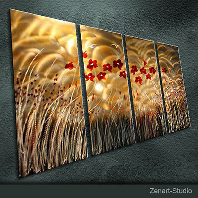 Modern Original Metal Wall Art Large Abstract Indoor Outdoor Decor by Zenart