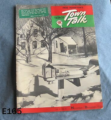 Vintage Texaco Texas Company Town Talk Booklet Gas Oil Service Station Rare Old