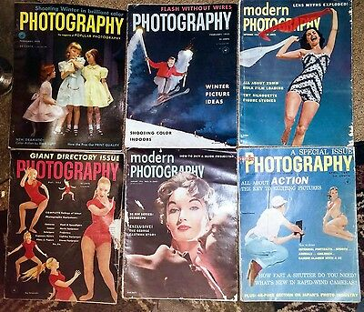 6 Vintage 1950's Photography Magazines Modern & Popular