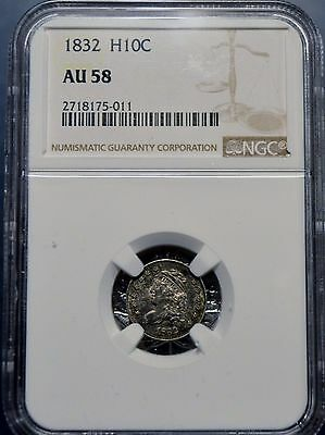 1832 H10C Capped Bust Half Dime NGC AU 58 About Uncirculated Free Shipping