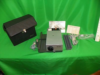 Rollei P350A slide projector, remote, extras - MINT w/ original box paperwork CA