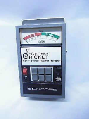 Vintage Sencore Cricket In Out of Circuit Transistor Tester TF-26