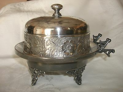 Vintage Adelphi Quadruple Silverplate Butter Server