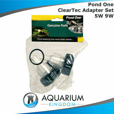 11681 Pond one ClearTec Adapter Set 5W 9W Inlet Outlet Clarfier 5 9 Watt Adaptor
