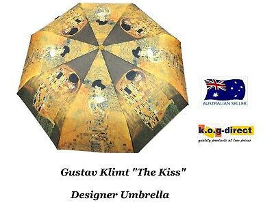 Gustav Klimt The Kiss Woman In Gold Automatic Open Folding Umbrella Hw-70