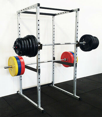 Power Rack Squat Cage Crossfit Stands Pull Up Home Gym Strength Rack Grey Color