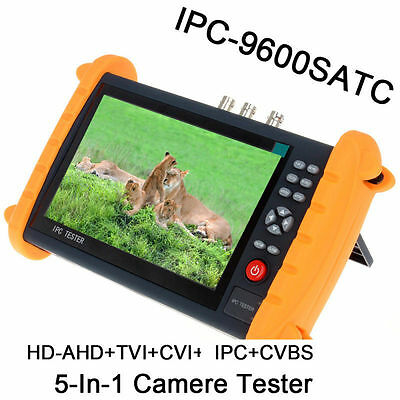 "NEW IPC9600SATC 7"" Touch Screen IP 1080P HD-AHD TVI CVI Analog Video Cam Tester"