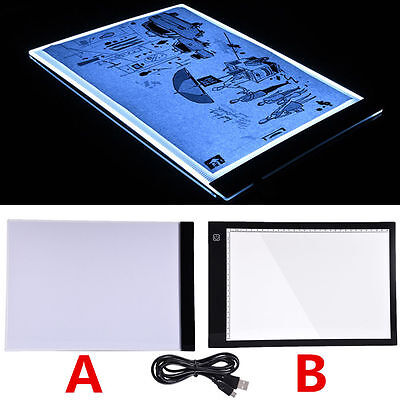 A4 LED Tracing Light Boxes Board Artist Tattoo Drawing Pad Table Stencil Display