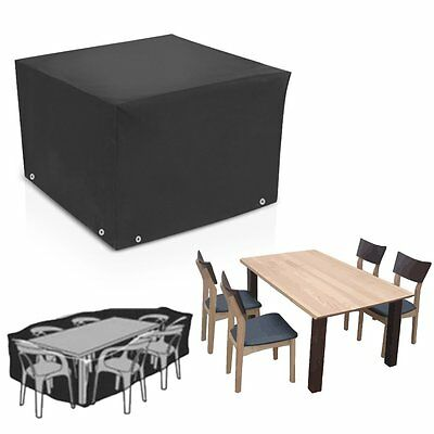 Outdoor Large Patio Set waterproof Cover for Cube Garden Furniture Table Chairs