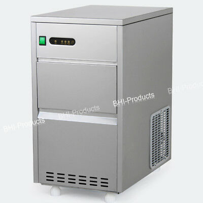 60 Lbs Crystal Clear Bullet Shaped Ice Maker Auto Portable Machine Commercial