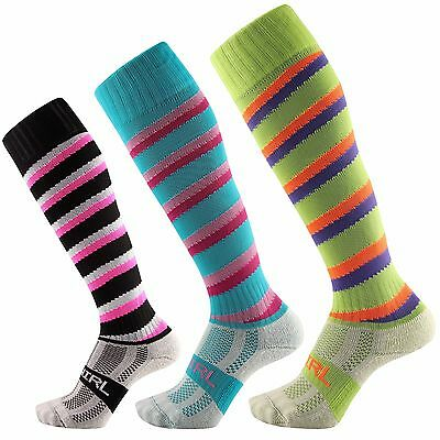 Samson® Swirl Knee High Socks Spiral Candy Football Rugby Running Funky Gym
