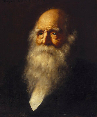 William Cullen Bryant Hand Painted Male Portrait Oil Painting On Canvas