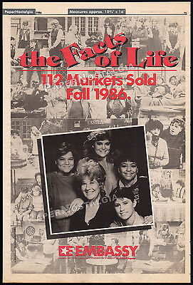 THE FACTS OF LIFE__Original 1986 Trade AD / TV promo__LISA WHELCHEL_NANCY MCKEON
