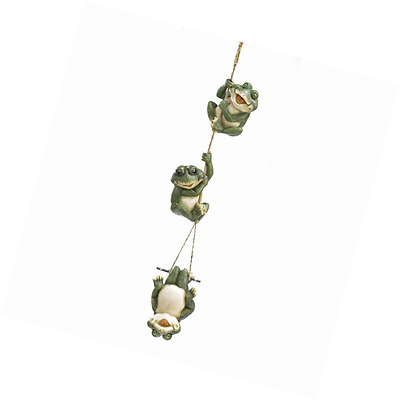Gifts & Decor Frolicking Frogs Hanging Garden Sculpture Decorative