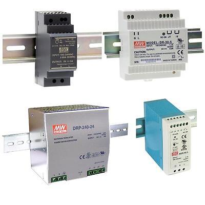 Din-Rail switching power supply MeanWell HDR-/DR-/DRP-/MDR-series ; panel mount