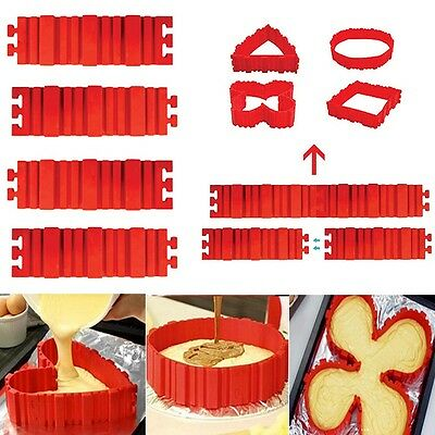 16x Silicone Cake Mold Magic Bake Snakes Create Chape Nonstick Tray Baking Mould