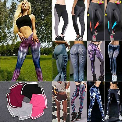 Women Yoga Sports Running Leggings Fitness Casual Gym Stretch Trousers Plus Size