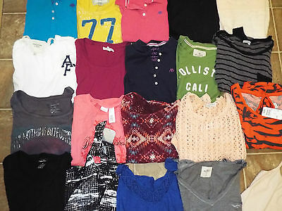 34 pieces Juniors size Medium mixed items lot Tops Shorts Aero