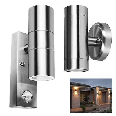 Outside Entrance Wall Light Garage Patio Dual PIR Sensor Security Lantern Lamp