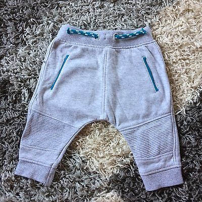Baby Boys Trousers Jogging Bottoms. 0-3 Months. Grey Worn Once