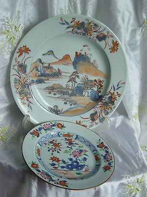 18c Two Chinese export porcelain Kangxi and Qianlong plates