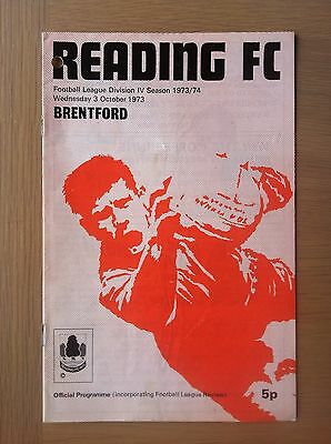 Reading V Brentford 1973-74