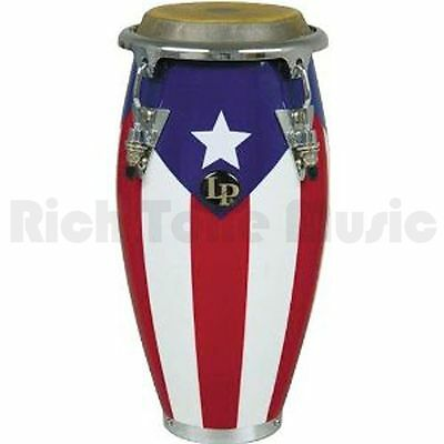 Latin Percussion LPM198-PR Puerto Rican Flag Wood Conga